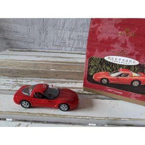 Hallmark 1997 Corvette Red car ornament Christmas